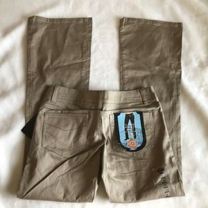 Back to School Dickies low rise khaki pants NWT 3